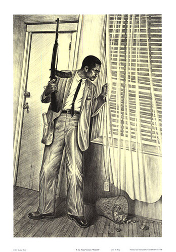 Poster of Malcolm X with a rifle | www.cmgww.com/historic ...
