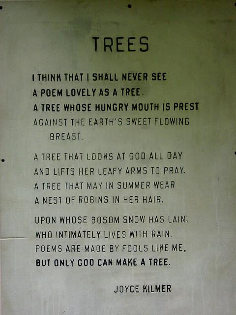 tree poem famous