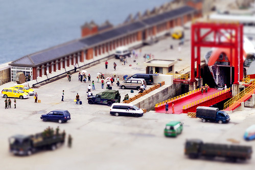 Tilt-shift ─ Jhongjhu Port | by *Yueh-Hua 2015