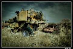 Infrared Jonh Deere Harvester | by Aitor Escauriaza