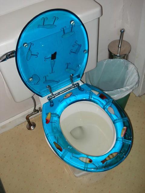 Grampa Grunts Fishing Lure Neon Toilet Seats | Evelyn | Flickr