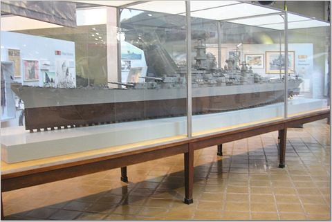 Uss Missouri Model Large Model of Uss Missouri at