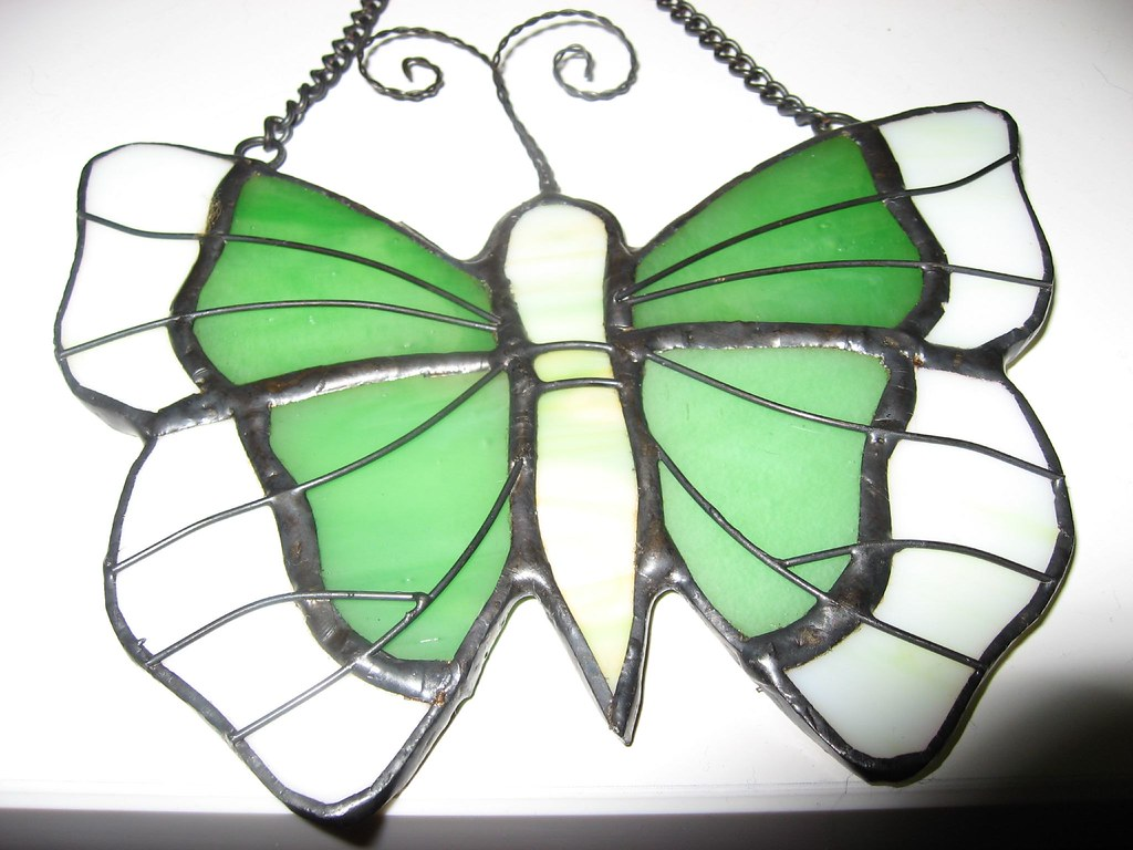 Stained Glass Butterfly Suncatcher Tissue Paper Craft