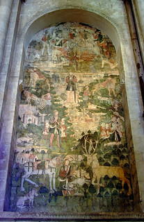 The legend of St Eustace, wall painting (c. 1480), Canterbury Cathedral | by chrisjohnbeckett