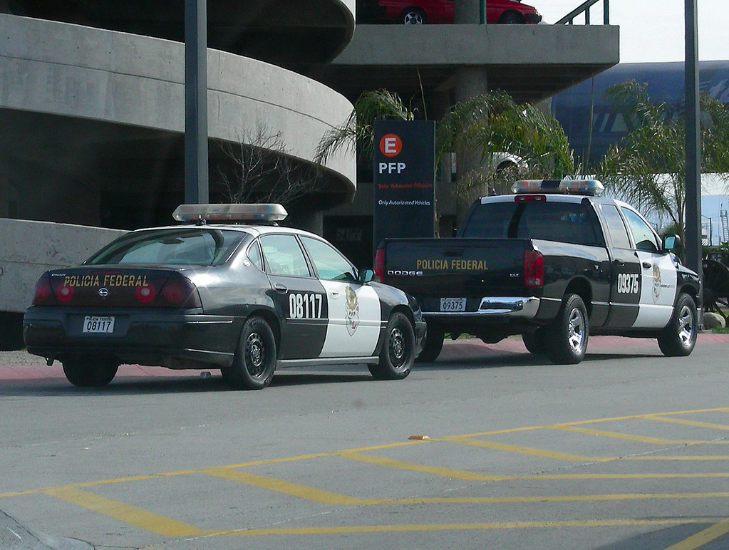 Mexican Federal Police Chevrolet Impala And Dodge Ram Of