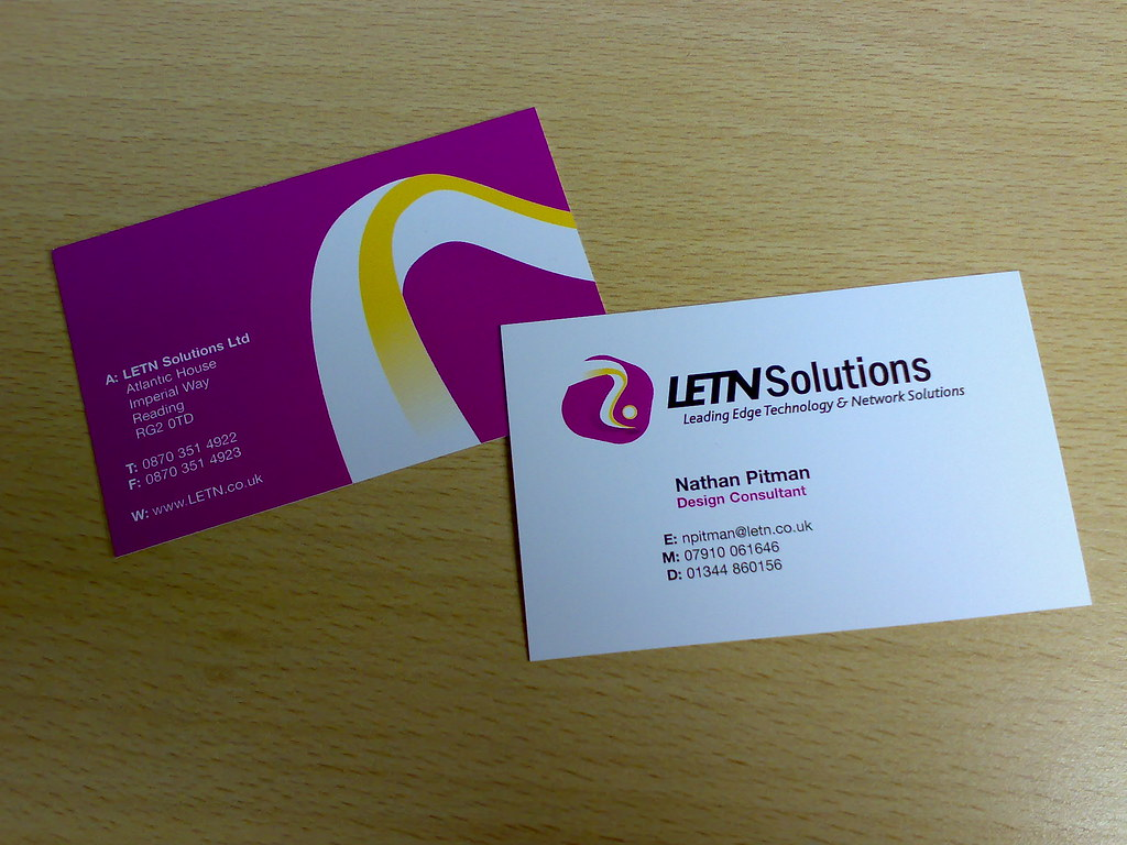 Letn business cards i designed some new cards for a compan flickr letn business cards by nathanpitman reheart Gallery