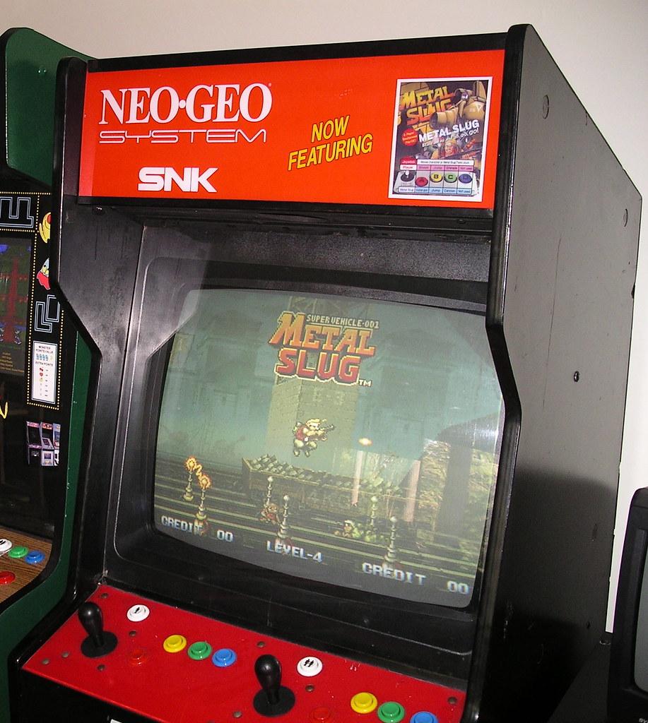 Neo Queens Arcade: My Neo Geo Arcade Cabinet Running Metal Slug