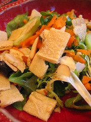 mixed_greens_salad with cashew_feta | by tofu666