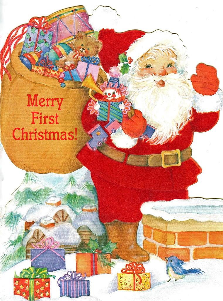 Baby\'s First Christmas card- Hallmark 1987 | Hallmark Baby\'s… | Flickr