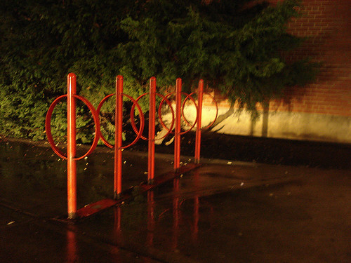 Red Bike Rings Outside St. Clair | by the mkt