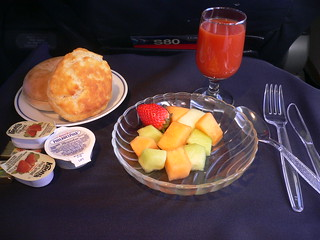 American Airlines First Class Breakfast | by Mark 2400