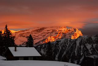 Sunset over Les Diablerets from Solacyre | by pHil____