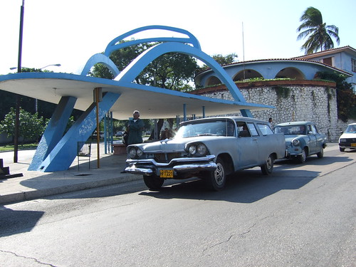 Classic Car and bus stop in Havana | by projectkevp