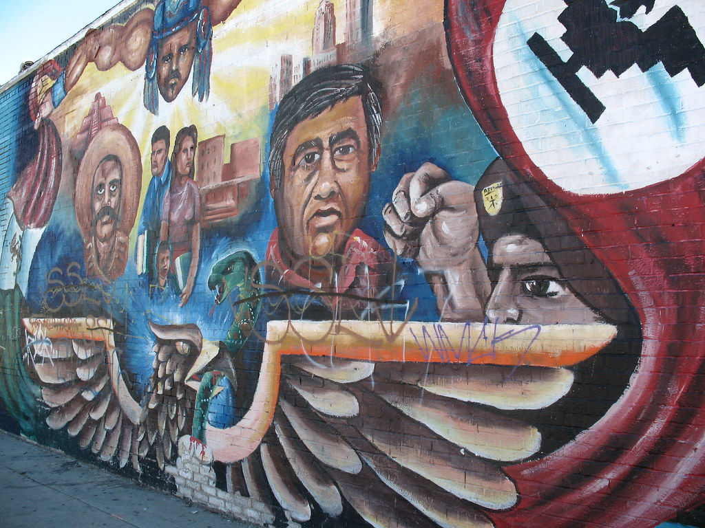 Chicanos in boyle heights february 4 2007 this for Chicano mural movement