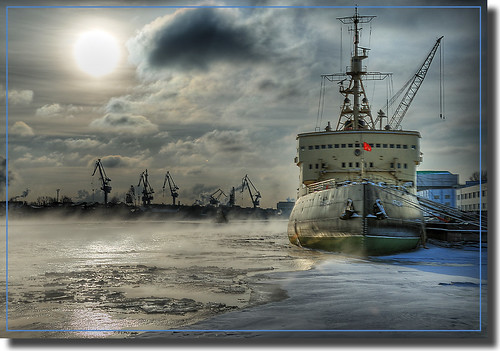 City at 60 degrees North / Icebreaker Krasin | by photopavel
