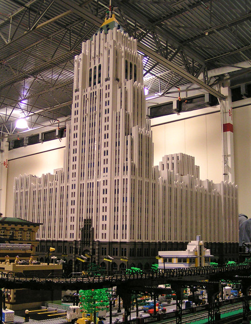 Detroit S Fisher Building Built Of Lego Bricks This Is