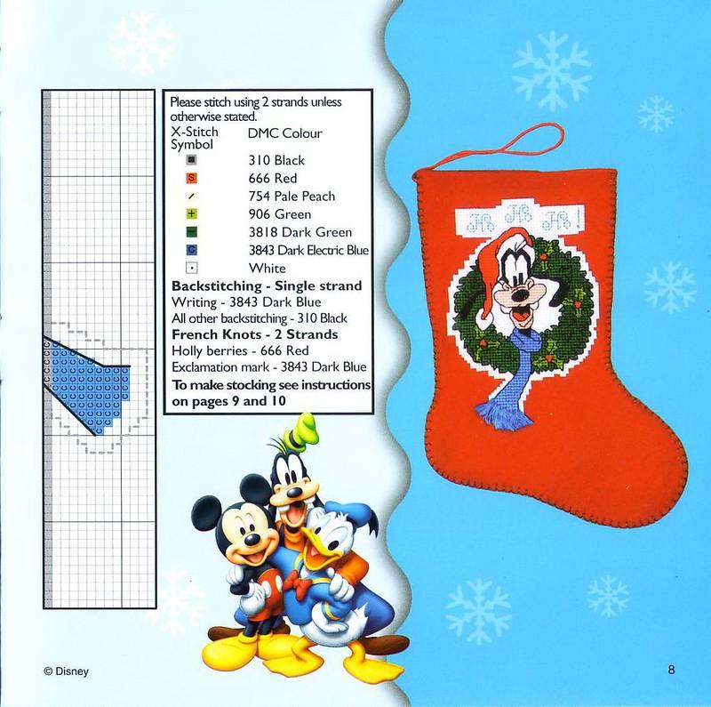 Une chaussette de Noël Dingo au point de croix