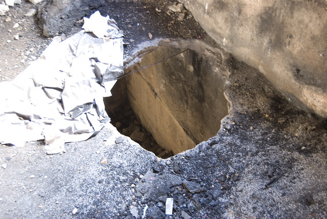 hole concrete floor images