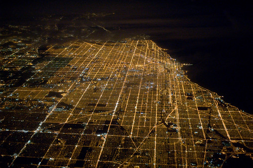 Chicago at night, from 36,000 feet | by myelectricsheep