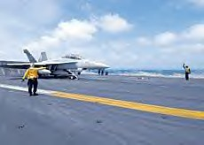 US warplanes taking off for Somali bombing mission from the USS Eisenhower near the Horn of Africa. The US and EU are expanding their presence in the region amid hysteria generated by the piracy issue. | by Pan-African News Wire File Photos