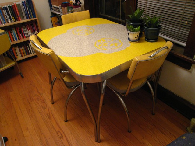 formica chrome kitchen table by astralbeing79 - Chrome Kitchen Table
