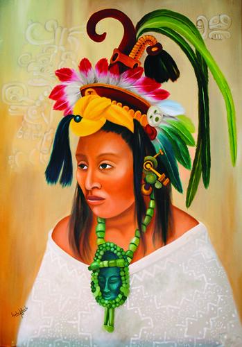 2 Mujer Maya Ii Pintura De Ana Isabel Acosta Oleo Sobre