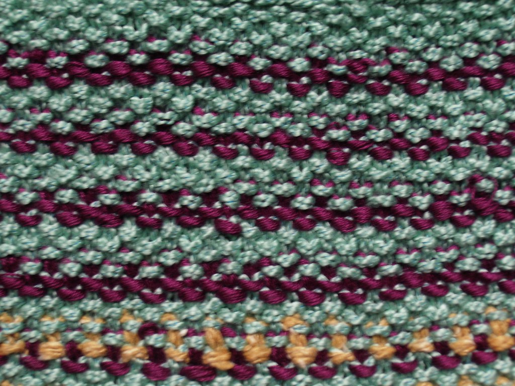 Tweed Stitch Reverse Knitting A Little Purse Wrong Side Flickr