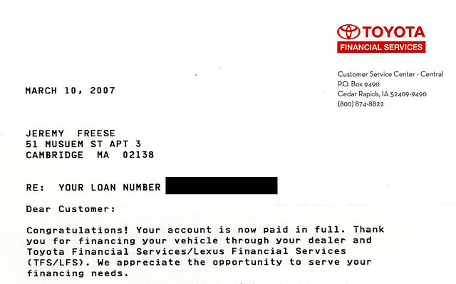 New Car Dealership Pay Loan