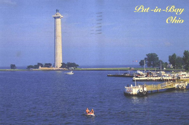 Ohio put in bay memorial the commanding tower of for Sandusky bay fishing
