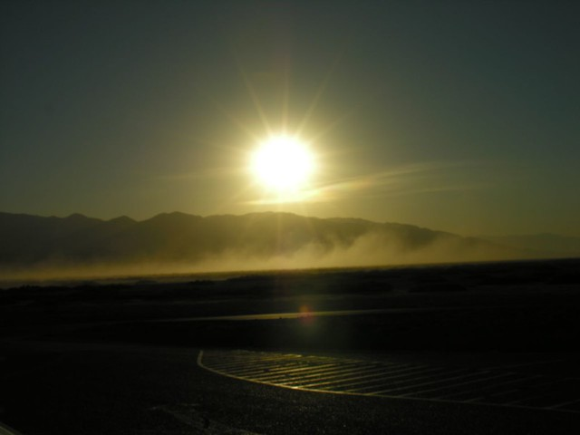 Looking From Golden Canyon Over The Salt Flats Death Vall
