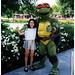 Sivan with a ninja turtle