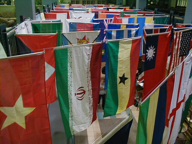 A Variety of National Flags on Display