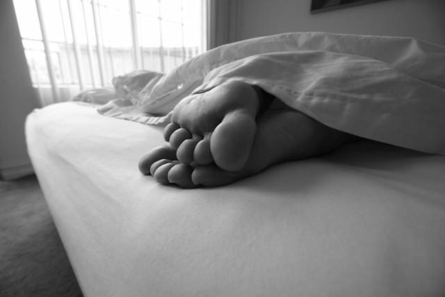 sleeping foot lover