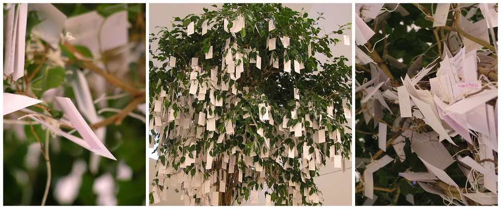 wish tree arbre souhait installation po tique de yoko flickr. Black Bedroom Furniture Sets. Home Design Ideas