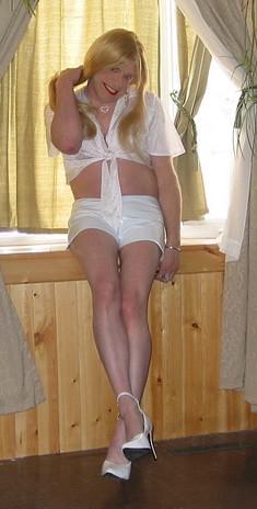 White PVC Shorts