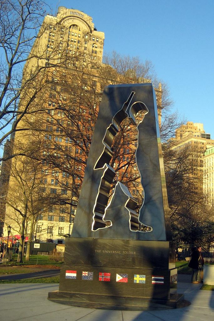 Nyc Battery Park Korean War Veterans Memorial Seated