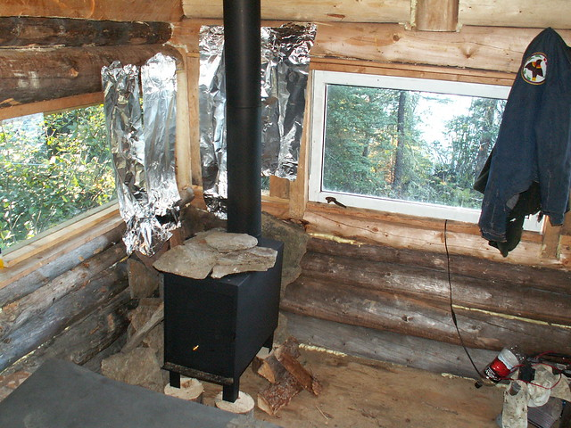 Sauna interior with woodstove flickr photo sharing for How to build a wood burning sauna stove