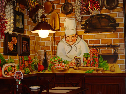 Wall painting in a spaghetti restaurant jee hee kim for Diner painting