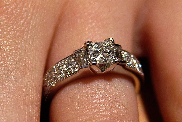 S Diamond Engagement Ring