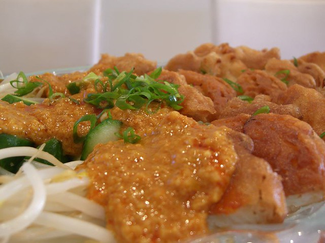 Indian Rojak with Onion Fritters   Flickr - Photo Sharing!