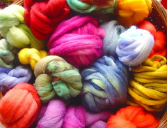 Hand Dyed Fiber Buns | by madelinetosh