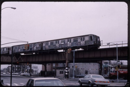 1988 Nyc Subway Train At 66th In Coney This Photo Was