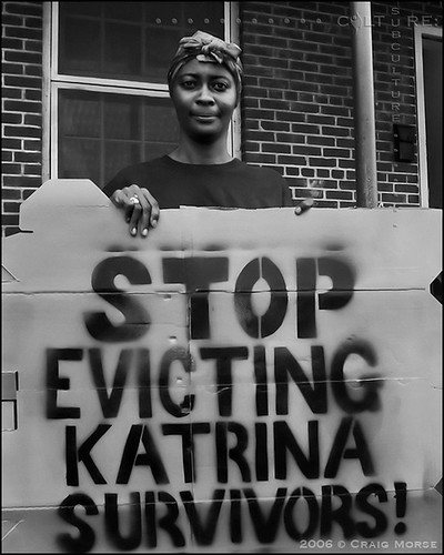 """Stop Evicting Katrina Survivors!"" 