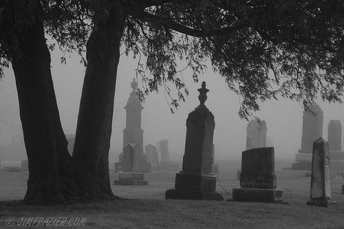 Tree and Gravestones (BW version) | by Jim Frazier