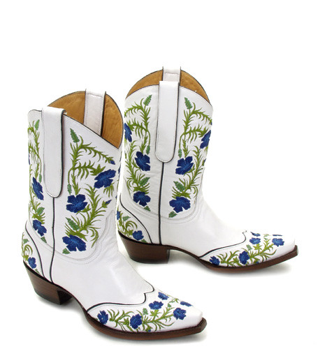 Old Gringo Pensamiento White Blue Cowboy Boots | Old Gringo ...