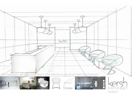 Reception sketch interior concept package proposal for Interior design concept package