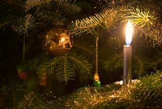 candle on the christmas tree | by christoph_w