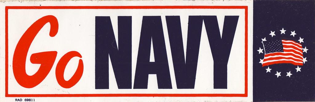Vintage Go Navy Bumper Sticker - mid-1970s | Here's an ...