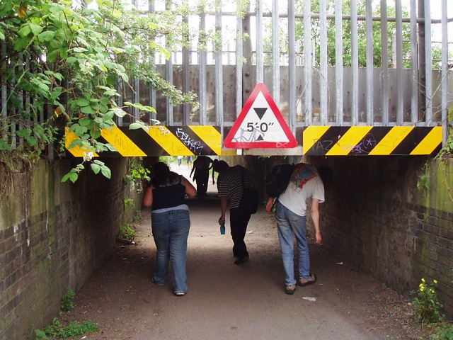 Low Clearance Sign >> A Low Bridge in the Lea Valley   Our walkers gracefully cope…   Flickr
