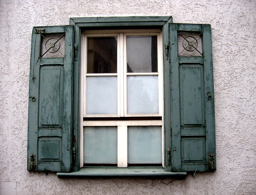 German window green window shutters in biberach germany for Window in german